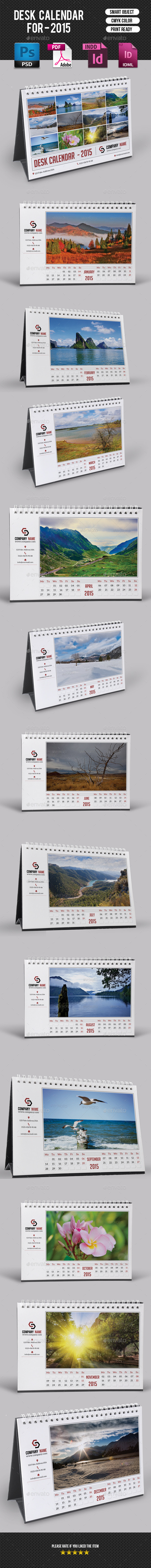 GraphicRiver Desk Calendar-V07 9589578