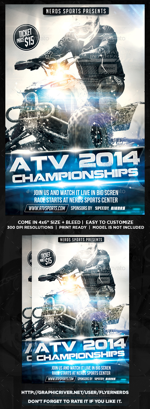 GraphicRiver ATV 2014 Championships Sport Flyer 9589681