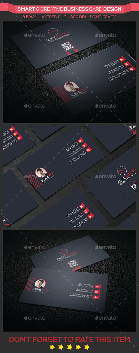 GraphicRiver Smart & Creative Business Card Design 9589826