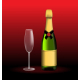 Sparkling Wine with a Glass - GraphicRiver Item for Sale