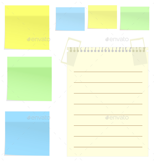 GraphicRiver Post It Notes 9589876
