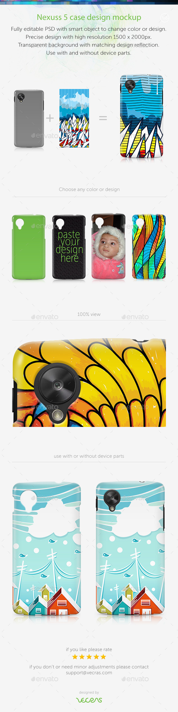 GraphicRiver Nexuss 5 Case Design Mockup 9590034