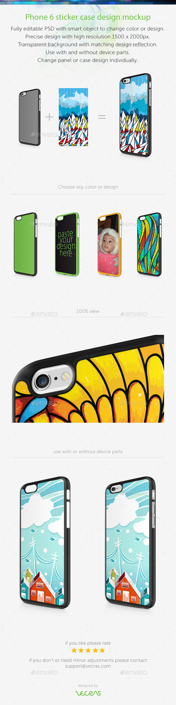 GraphicRiver Phone6 Case Design Mockup 9590036