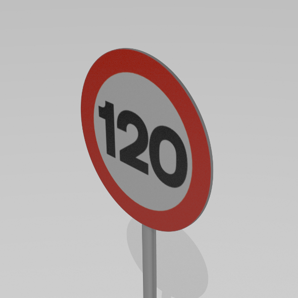 3DOcean 120 Speed limit sign 9590104