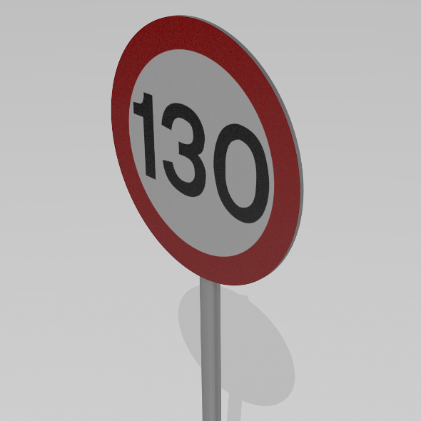 3DOcean 130 Speed limit sign 9590134