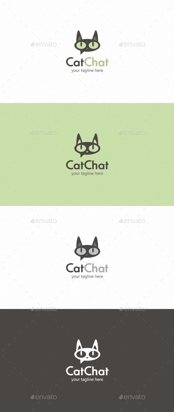 GraphicRiver Cat Chat Logo 9522284