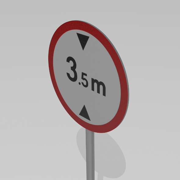 Maximum height sign - 3DOcean Item for Sale