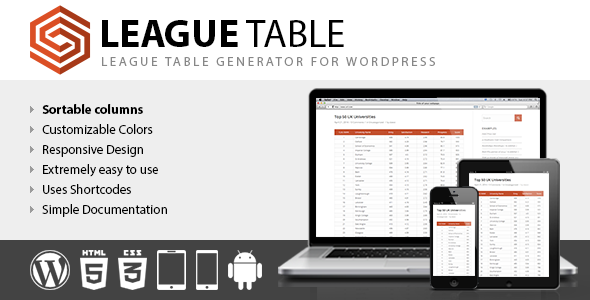 League Table - CodeCanyon Item for Sale