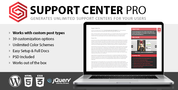Support Center Pro - CodeCanyon Item for Sale