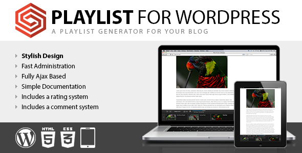 Playlist for WordPress - CodeCanyon Item for Sale