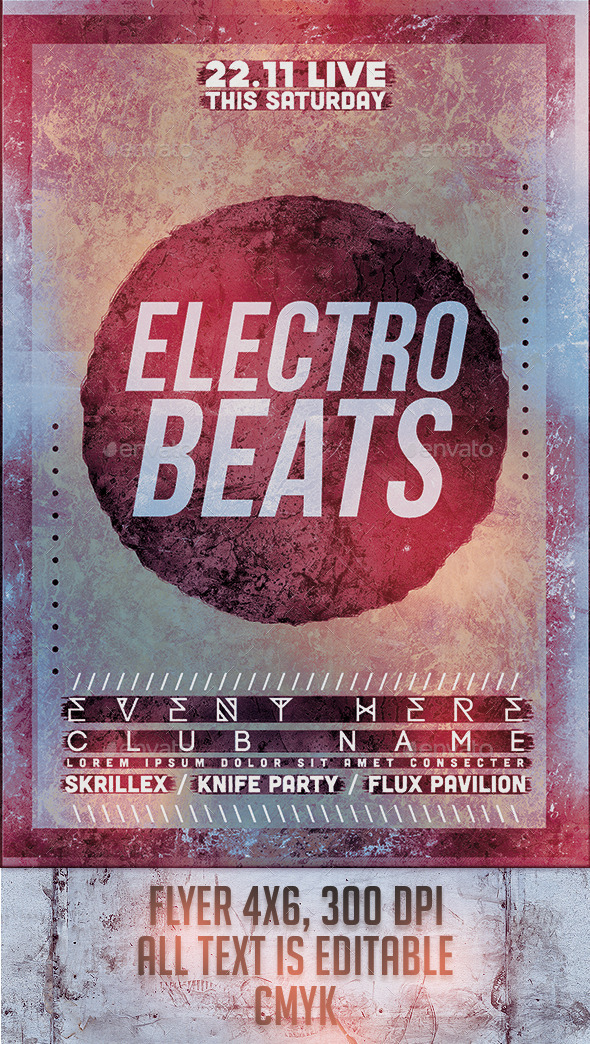 GraphicRiver Electro Beats Flyer Template 9590203