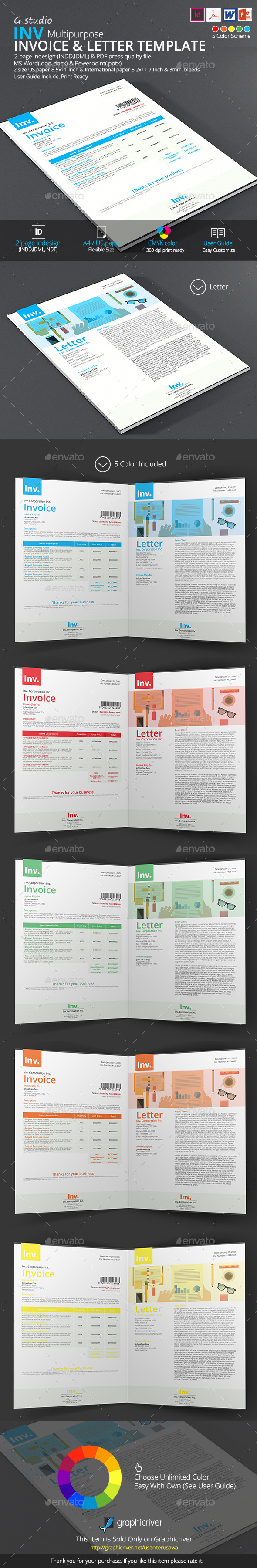 GraphicRiver Inv Invoice And Letter Template 9590589