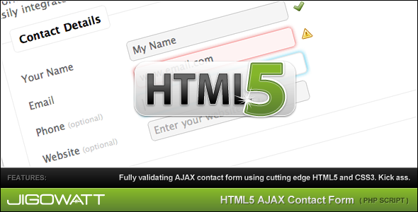CodeCanyon HTML 5 AJAX Contact Form 122299