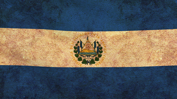 El Salvador Flag 2 Pack Grunge and Retro