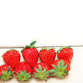 fresh organic strawberry over white wood - PhotoDune Item for Sale