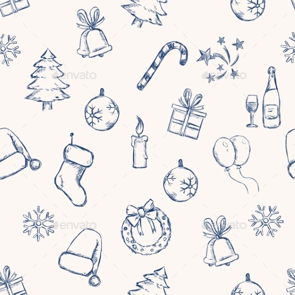 GraphicRiver Seamless New Year and Christmas Pattern 9590778