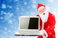 Surprised Santa Claus with Laptop - PhotoDune Item for Sale