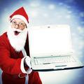 Santa Claus with Laptop - PhotoDune Item for Sale