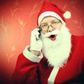 Happy Santa Claus with Cellphone - PhotoDune Item for Sale