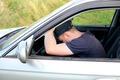 man fall asleep in the car - PhotoDune Item for Sale
