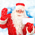 Santa Claus with Blank Paper - PhotoDune Item for Sale
