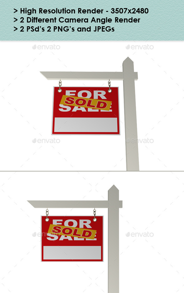 GraphicRiver Real Estate Sign Sold 9591173