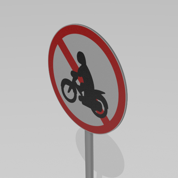 Motorcycles prohibited - 3DOcean Item for Sale