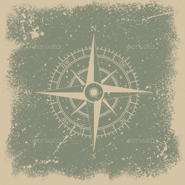 GraphicRiver Grunge Wind Rose 9591229