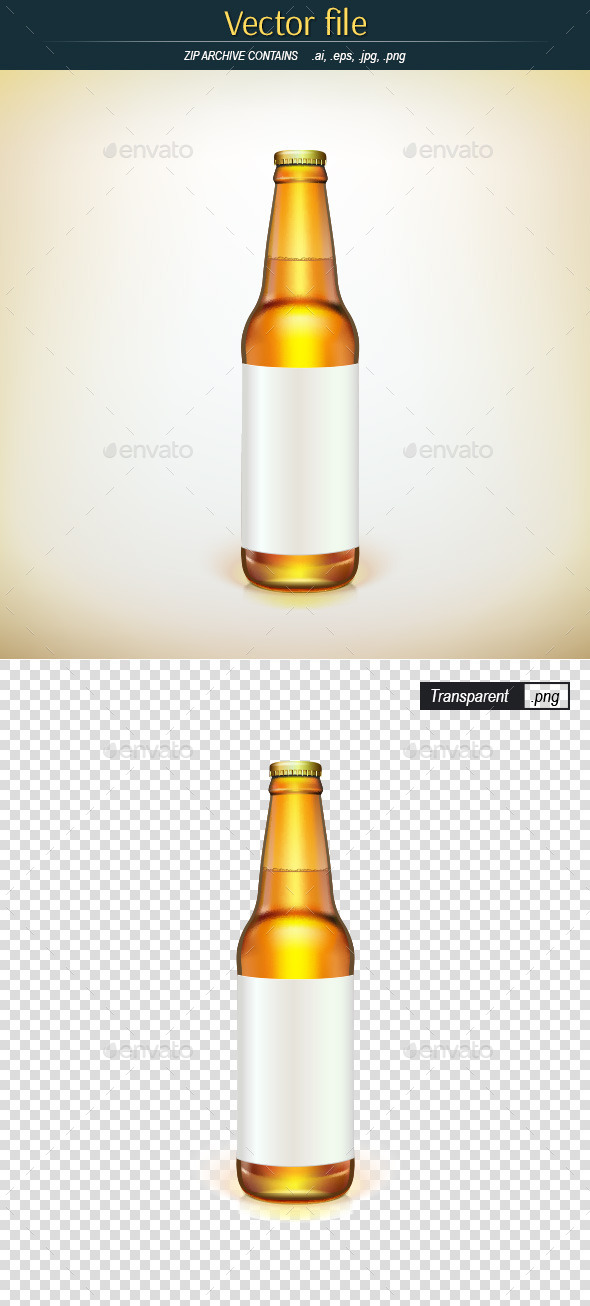 GraphicRiver Bottle with Label 9591443