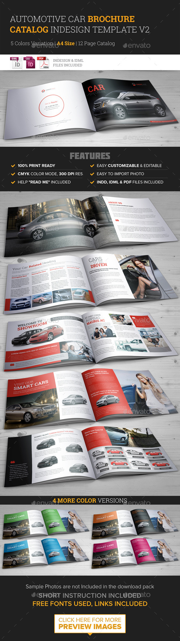 GraphicRiver Automotive Car Brochure Catalog InDesign Template 9591704