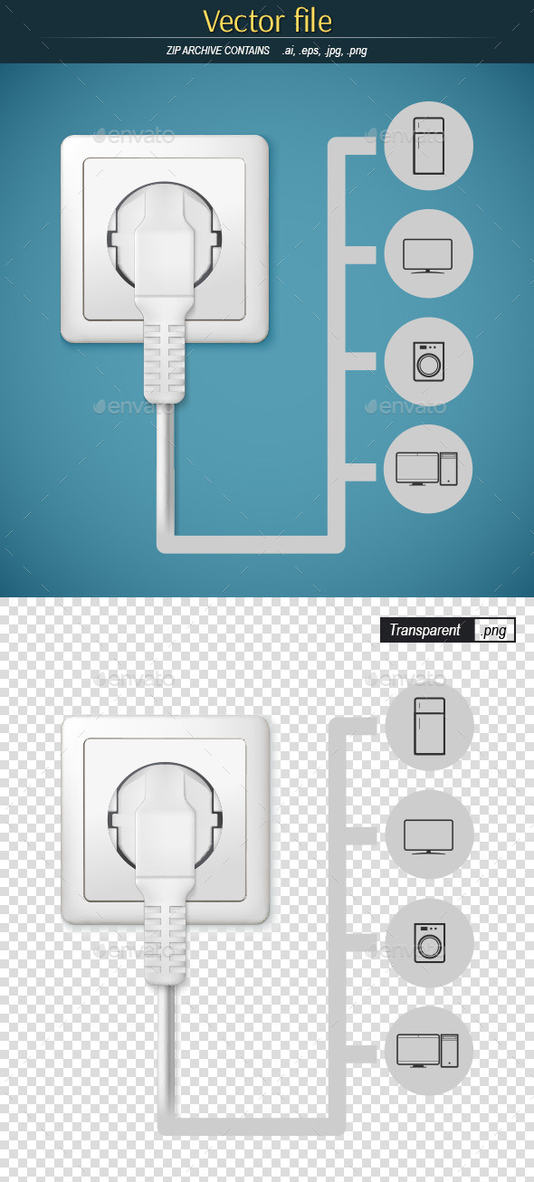 GraphicRiver Plug with Gadgets Icons 9591750