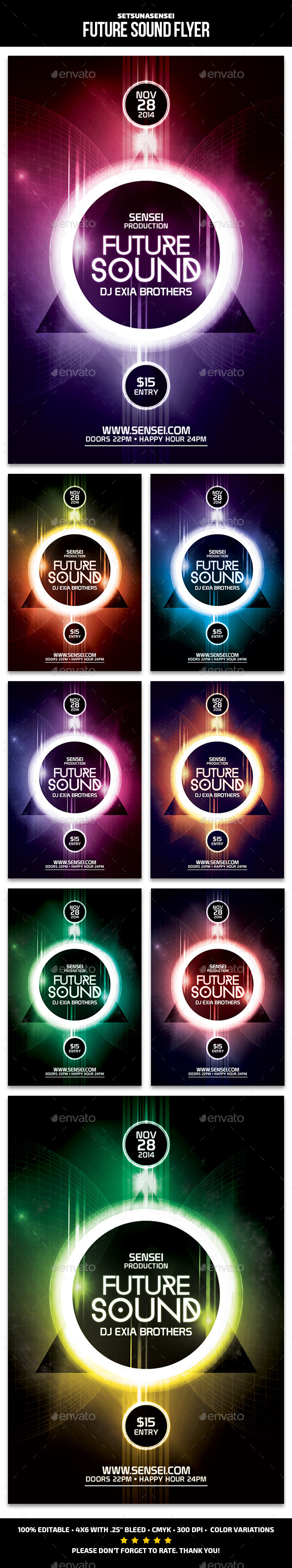 GraphicRiver Future Sound Flyer 9592057