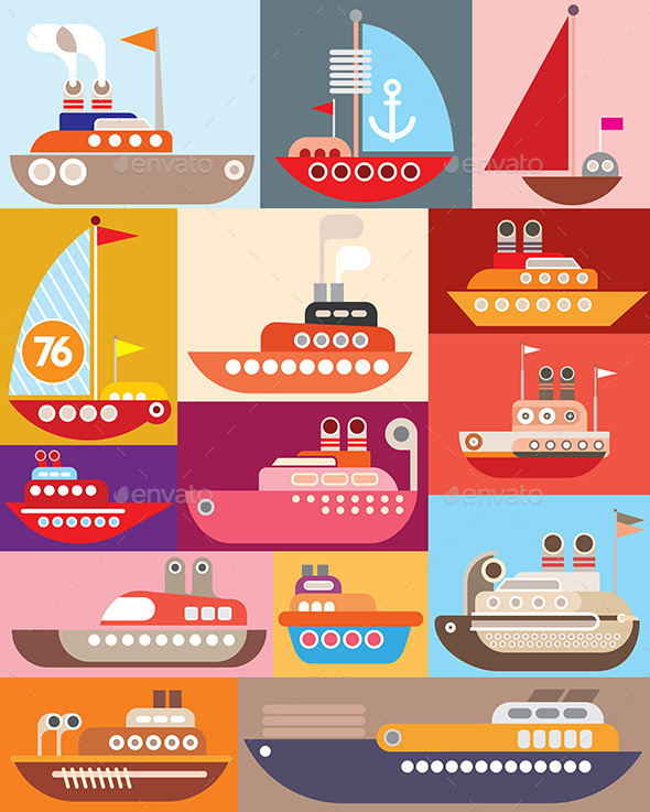 GraphicRiver Ships and Boats 9592136