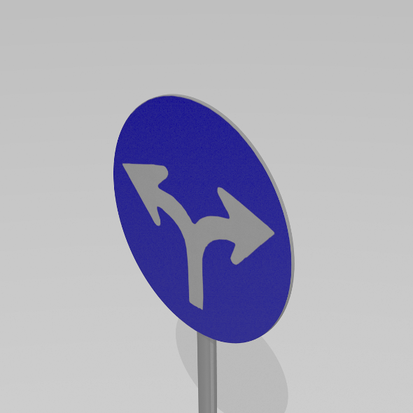 Turn left or right sign