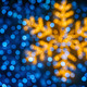 Blurred snowflake and lights background - PhotoDune Item for Sale
