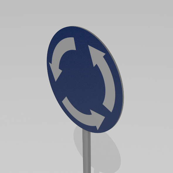 Roundabout sign - 3DOcean Item for Sale