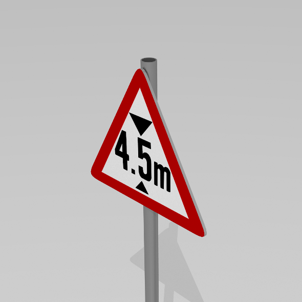 3DOcean Maximum height sign 9592322