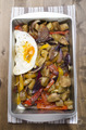 aubergine and pepper fried egg - PhotoDune Item for Sale