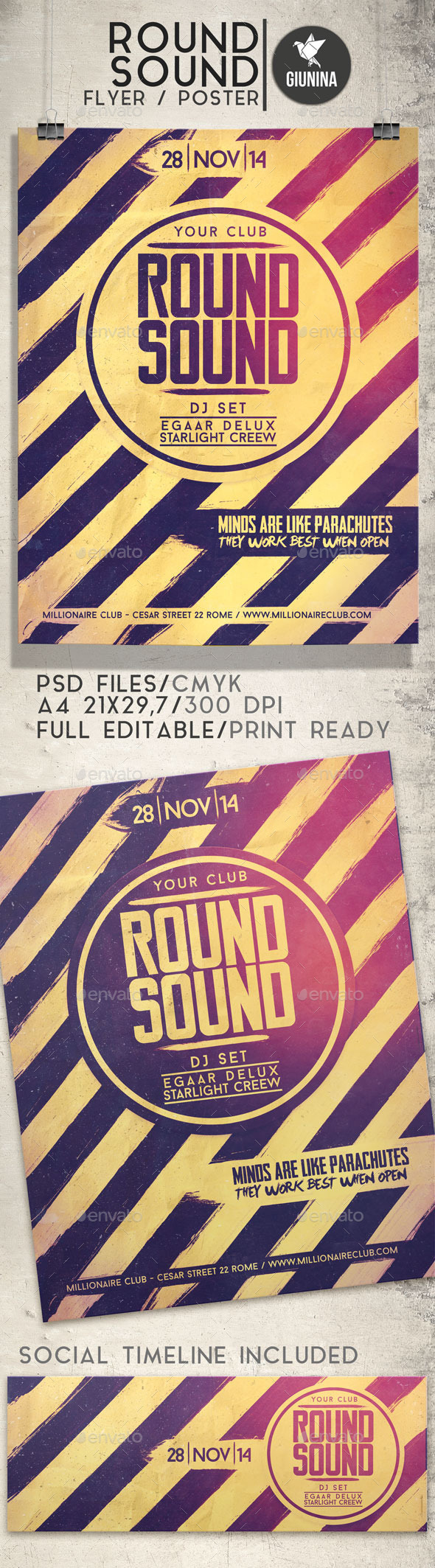 GraphicRiver Round Sound Flyer Poster 9522914