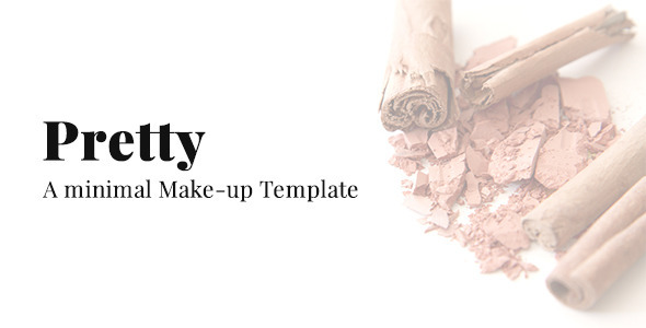 ThemeForest Pretty A Minimal Make-up Website Template 9592767