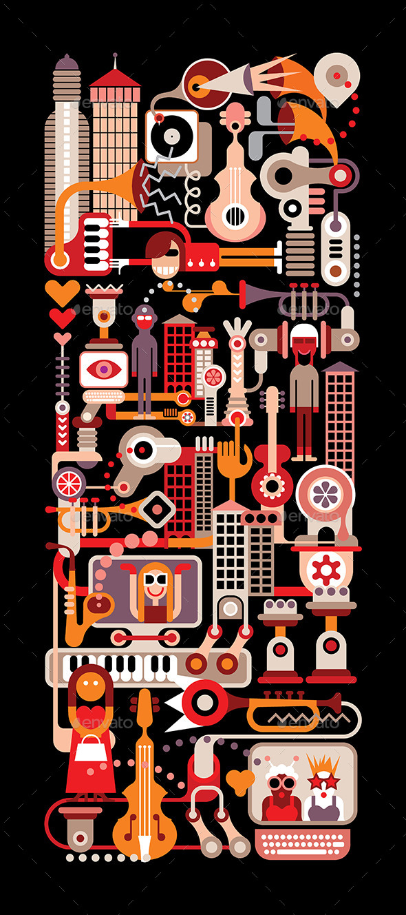 GraphicRiver Music City 9592770