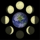 Moon Phases and Planet Earth - GraphicRiver Item for Sale