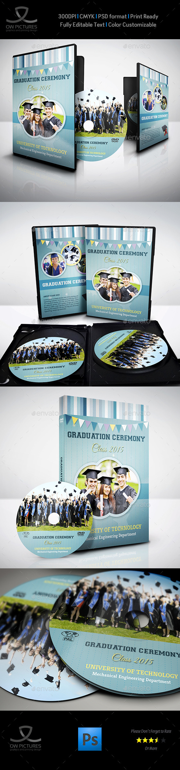 GraphicRiver Graduation Ceremony DVD Cover and Label Template 9592792