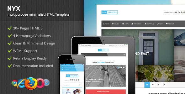 NYX - Multipurpose HTML Template