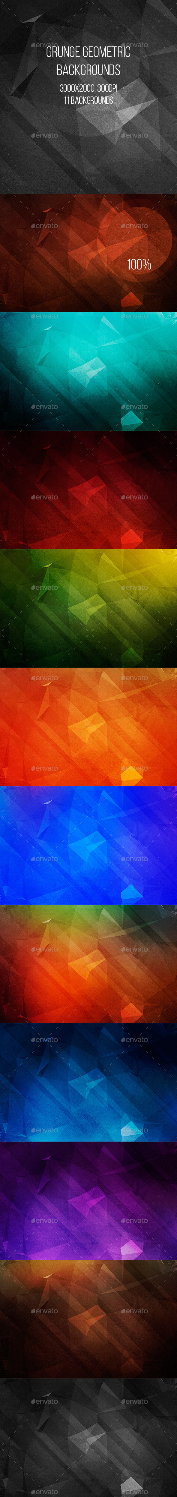 GraphicRiver Grunge Geometric Backgrounds 9593102