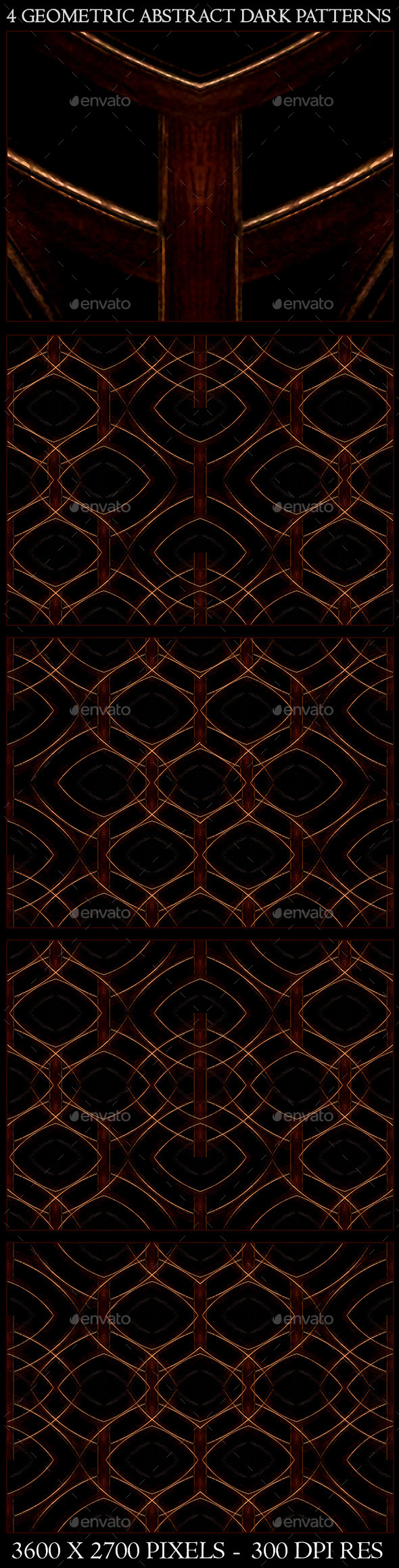 GraphicRiver 4 Geometric Abstract Dark Patterns 9593534