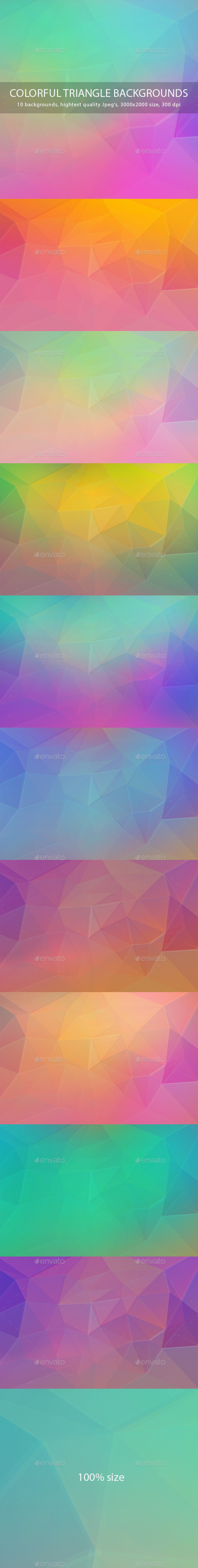 GraphicRiver Colorful Triangle Backgrounds 9593594