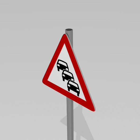 Heavy traffic sign - 3DOcean Item for Sale