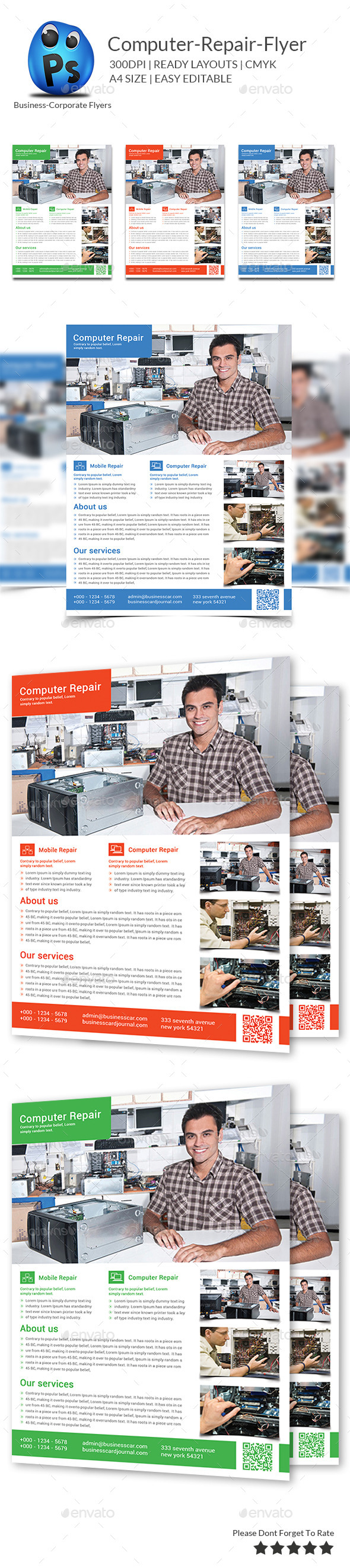 GraphicRiver Computer & Mobile Repair Flyer Template 9593747
