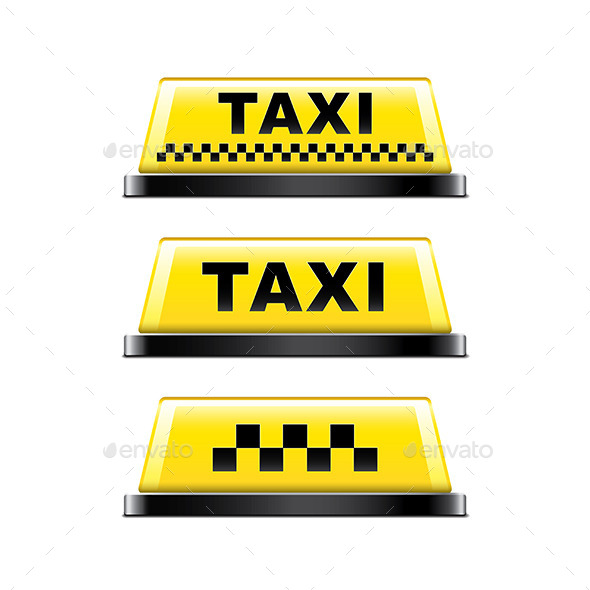 GraphicRiver Taxi Sign 9593830